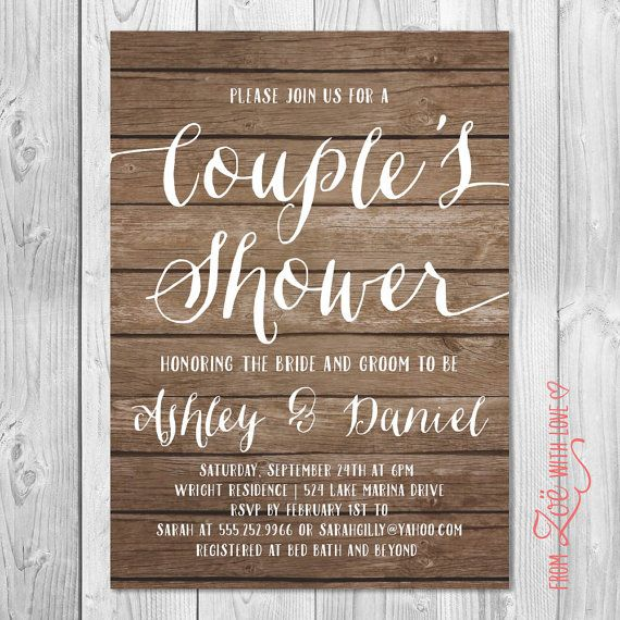 Cheap Couples Shower Invitations