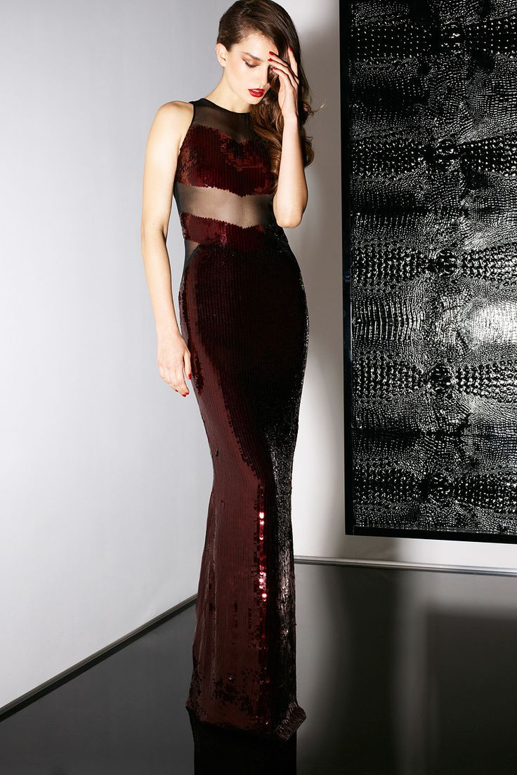 Sequined burgundy dress Jason Wu Pre-Fall 2013 #style #fashion