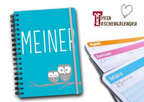 Dein Schulplaner mit süßem Eulen-Design. Wähle Deine eigene Farbe für Hintergrund und Design und schreibe Deinen Text auf das Cover!