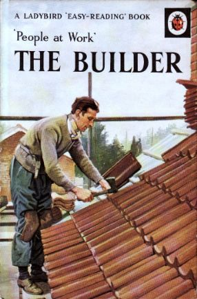 THE BUILDER Vintage Ladybird Book People at Work Series