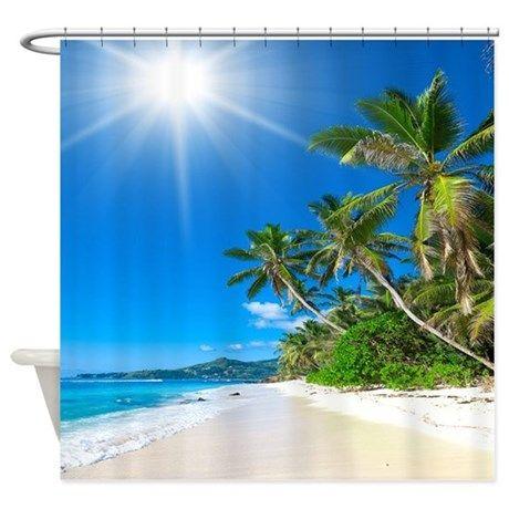 Tropical Beach Shower Curtain on CafePress.com