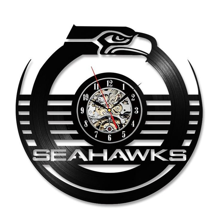 New Arrival NFL SEATTLE SEAHAWKS Hanging LED Round Clock Room Decor Free Shipping