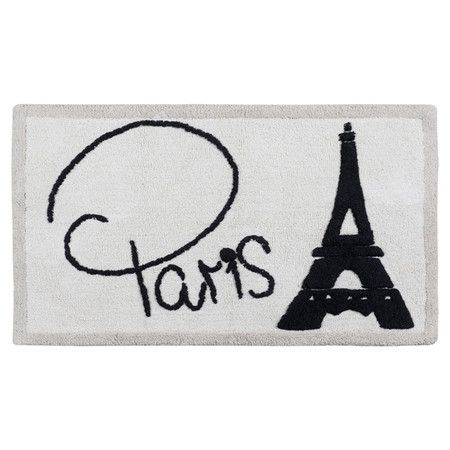 Celebrate the City of Light and bring spa-worthy style to your master bath with this lovely mat, showcasing a Paris-inspired motif.