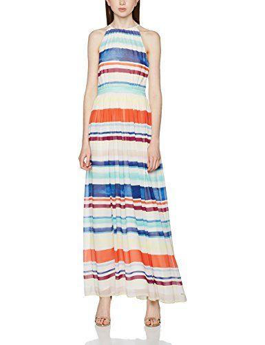 *Tommy Hilfiger* Agatha Chiffon Maxi Dress, Vestito Donna, Multicolore (Lee Stp)