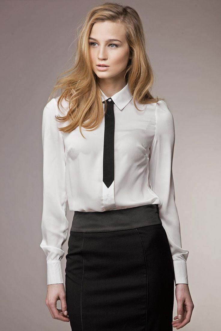 Unde ai purta aceasta camasa?  Detalii produs ► bit.ly/Camasa_business_Alessia_Astratex   Camasa cu maneca lunga, model ce imita cravata, contrast black&white. Din colectia eleganta a brand-ului de lux Misebla.