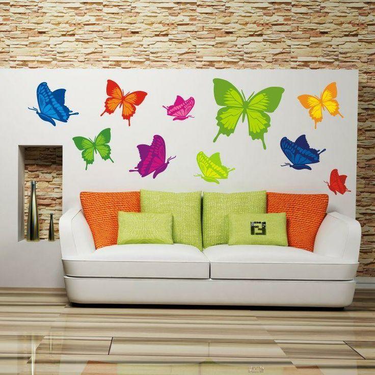 Naklejki wielokolorowe - Motyle | Many-hued stickers - Butterflies | 138,20 PLN #decorative #sticker#butterfly #home_decor#interior_decor #many_hued