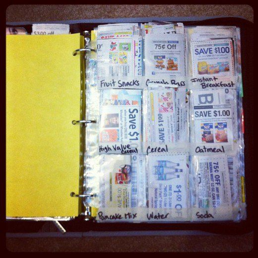 Coupons organizer binder