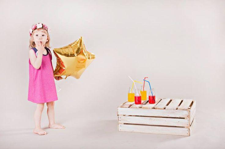 #summerdress #dress #kids #littlesophie #pink #star #handmade #littlesophiepl