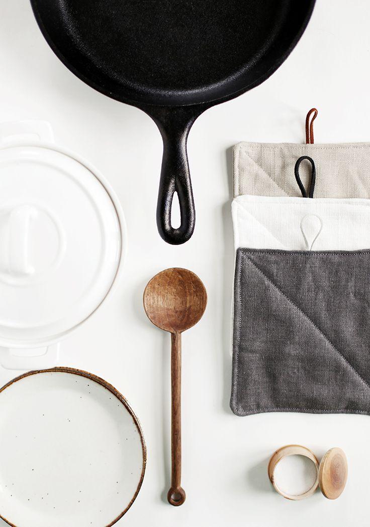 DIY Linen Potholders @themerrythought