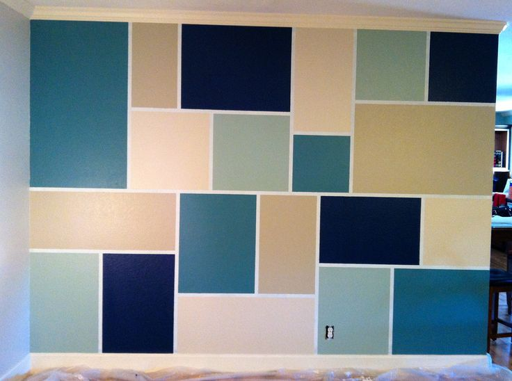 feature wall step 1 tape out design step 2 paint. Black Bedroom Furniture Sets. Home Design Ideas