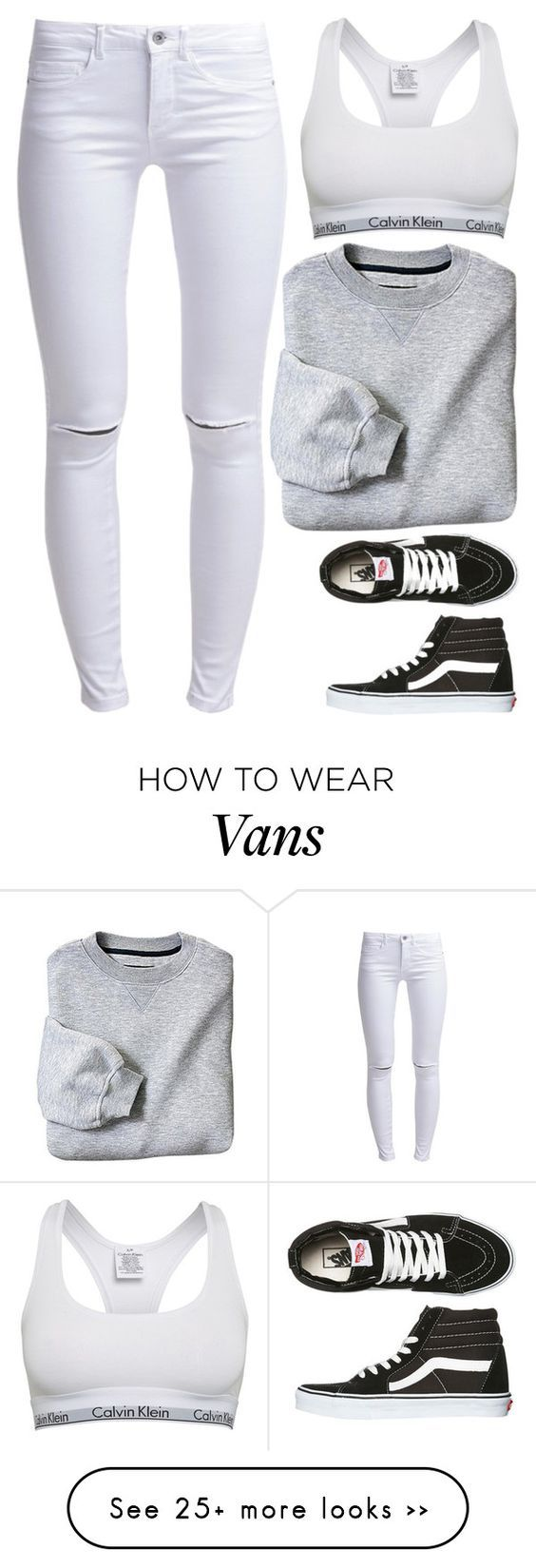 """Unbenannt #2998"" by summerlove1d on Polyvore featuring ONLY, Calvin Klein and Vans"