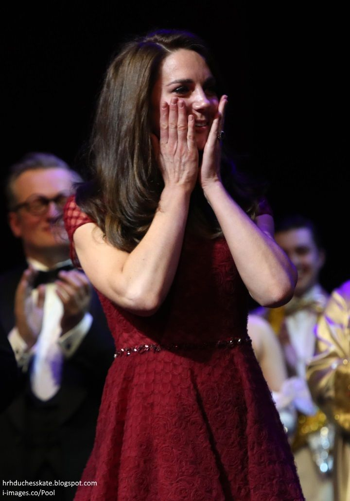 The Duchess of Cambridge attended the Opening Night of the musical   42nd Street  at the Theatre Royal Drury Lane in aid of  East Anglia's C...