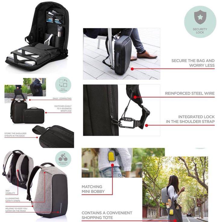 Alweer zo'n mooi merk toegevoegd! De XD Design Bobby Backpack. Dagelijks vinden er over de hele wereld 400000 zakkenrol incidenten plaats, maar met een Bobby Bag tas van XD Design bent u een dief altijd te slim af. Online en in de winkel verkrijgbaar