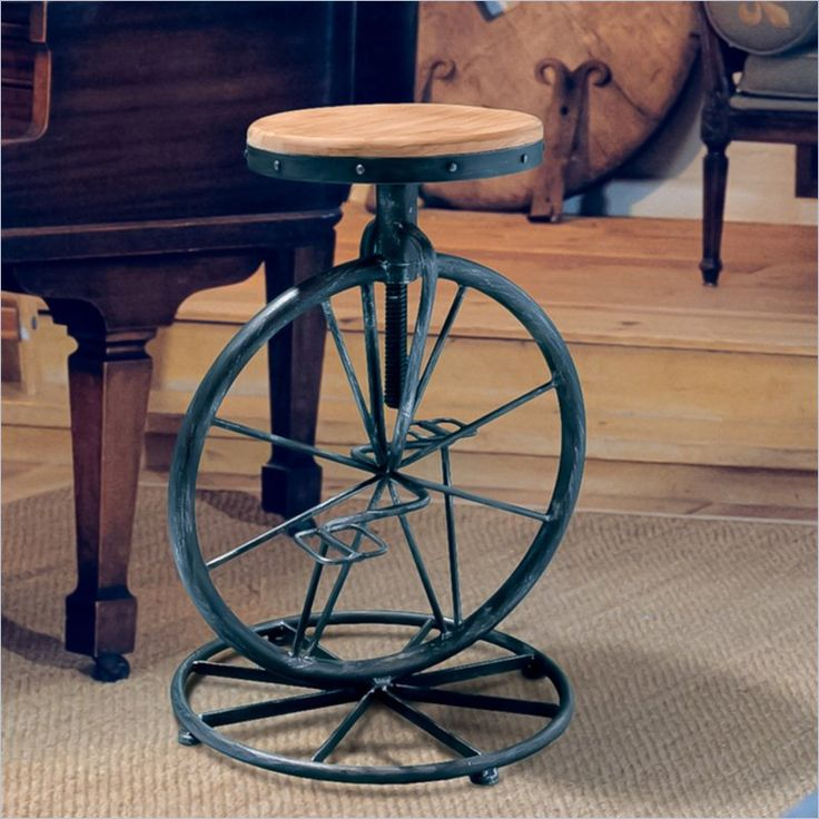 Unique Small Stool with Wheels