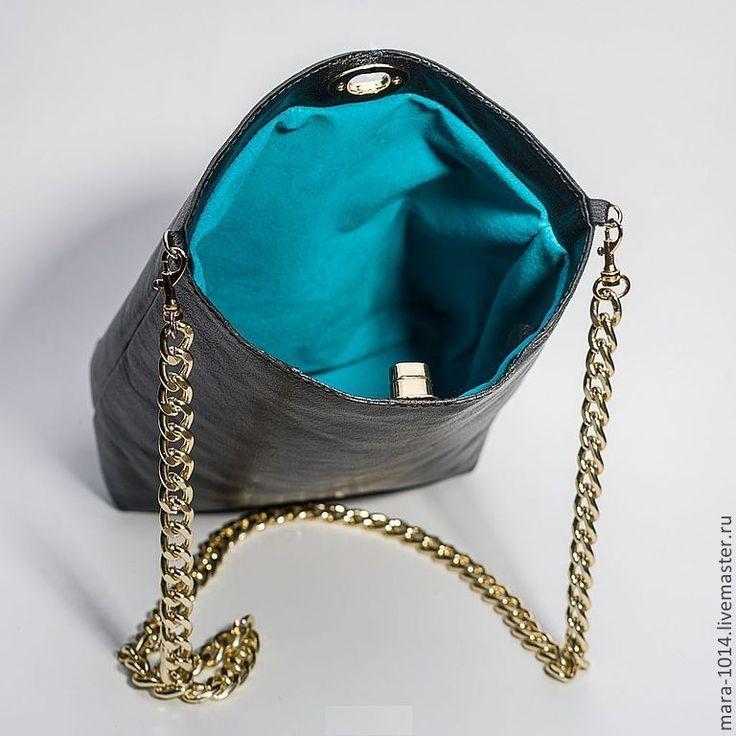 Купить BLACK SILK кожаная сумочка на плечо - черный, сумочка, сумочка ручной работы