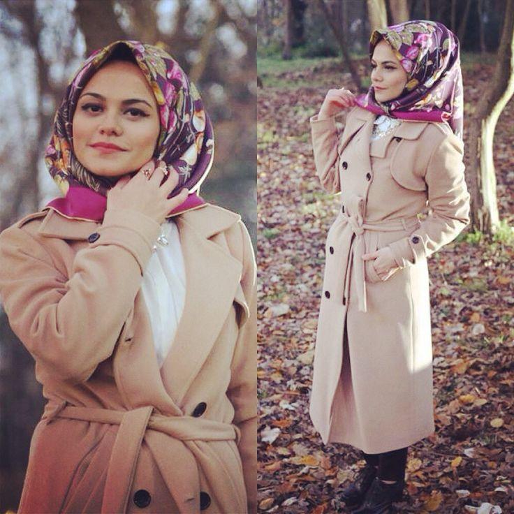 #hijab #fashion #ootd #hijabstyle #feyzandesign #hijaboutfit #trenchcoat #coat