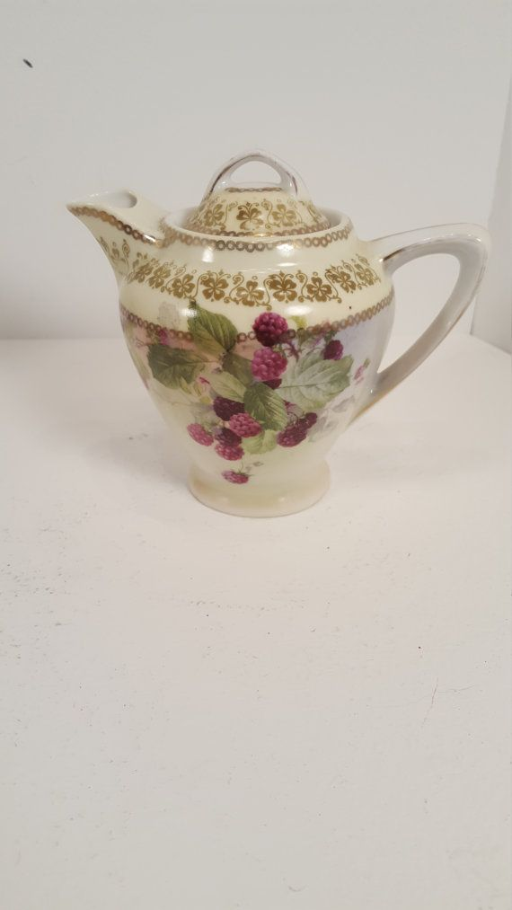 Vintage antique Victoria Austria berry and leaves by SoItsOld