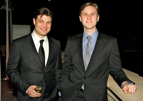 Jay R Ferguson (stan rizzo) and Aaron Staton (ken cosgrove) of mad men