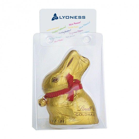 Schokoladen Osterhase von Lindt mit #Lyoness Osterkärtchen | http://www.lyoness-store.com