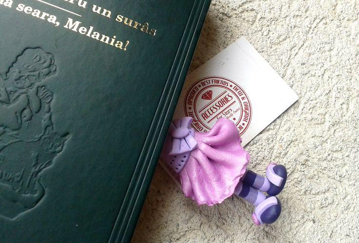 http://accessoriesforstars.blogspot.ro/2015/05/semn-carte-purple-ballerina.html #ballerina #bookmarks #bookmark #pink #dress #little #polymer #accessoriesforstars #original