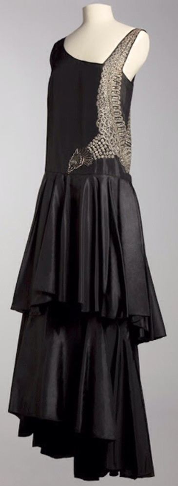 Jeanne Lanvin - pheasant motif evening dress, 1930's