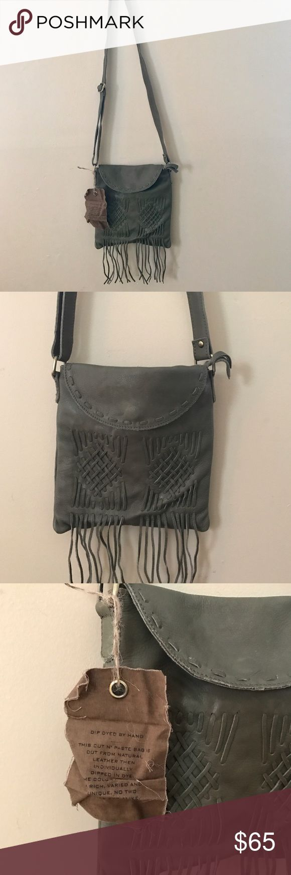 Free People Cut N' Paste Harper Fringe Bag Free People Cut N' Paste Harper Fringe Bag   - 100% Leather  - New With Tags  - Brand : Cut N' Paste   Planet Blue , Nasty Gal , Asos , Pacsun , Swell , Urban Outfitters , Revolve Clothing , Forever 21  , Shop Bop , Free People , boho , Anthropologie , bohemian , festival fashion , Free People bag  .. ( stores for views ) Free People Bags