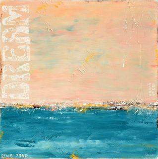 """Sunrise Dream"" - coastal abstract painting by Sabina D'Antonio"