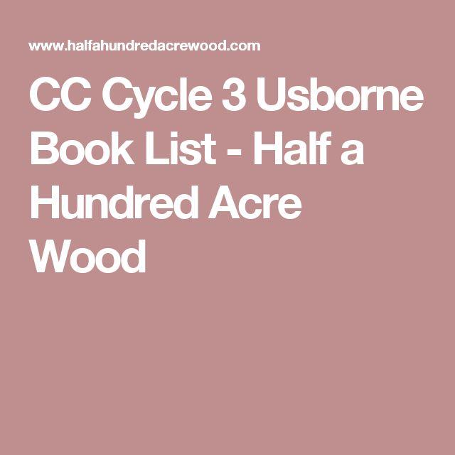CC Cycle 3 Usborne Book List - Half a Hundred Acre Wood