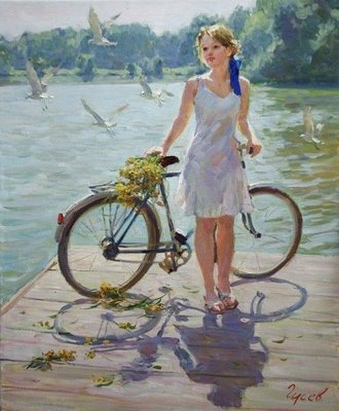 Vladimir gusev bicycle flowers