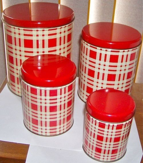 1000+ Ideas About Red Canisters On Pinterest