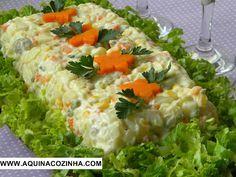 Salada de maionese                                                                                                                                                                                 Mais