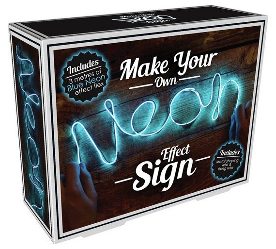 Buy Make Your Own Neon Effect Sign - Blue at Argos.co.uk, visit Argos.co.uk to shop online for Gadget and novelty gifts, Gifts