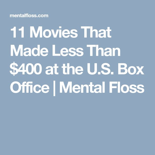 11 Movies That Made Less Than $400 at the U.S. Box Office | Mental Floss