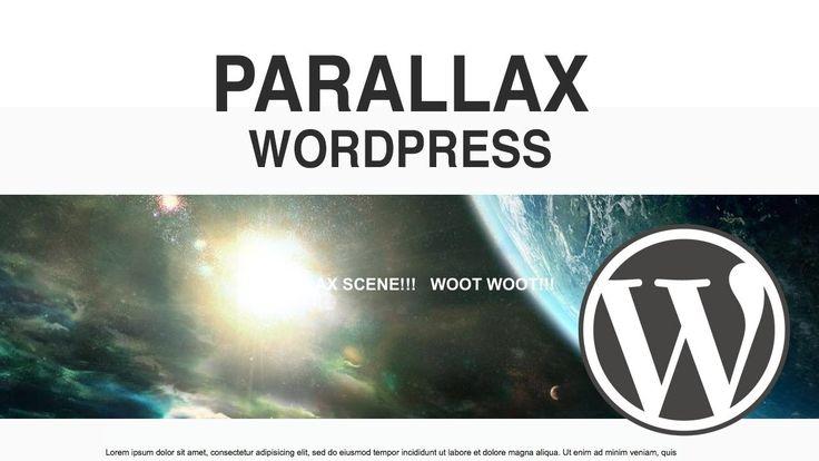 How to Make a Parallax Plugin WordPress Website 2016