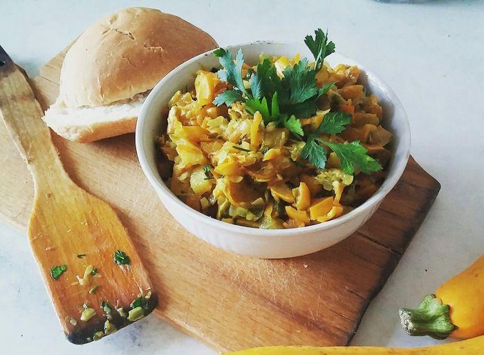 Пряное рагу из кабачков Получается очень вкусно — отличный пост рецепт на обед! Приятного вам аппетита! #едимдома #готовимдома #рагу #рецепты #кулинария #домашняяеда #обед #пост