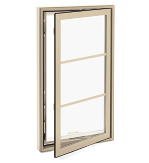 Marvin Integrity three pane casement windows- love the wood trim ones too :)