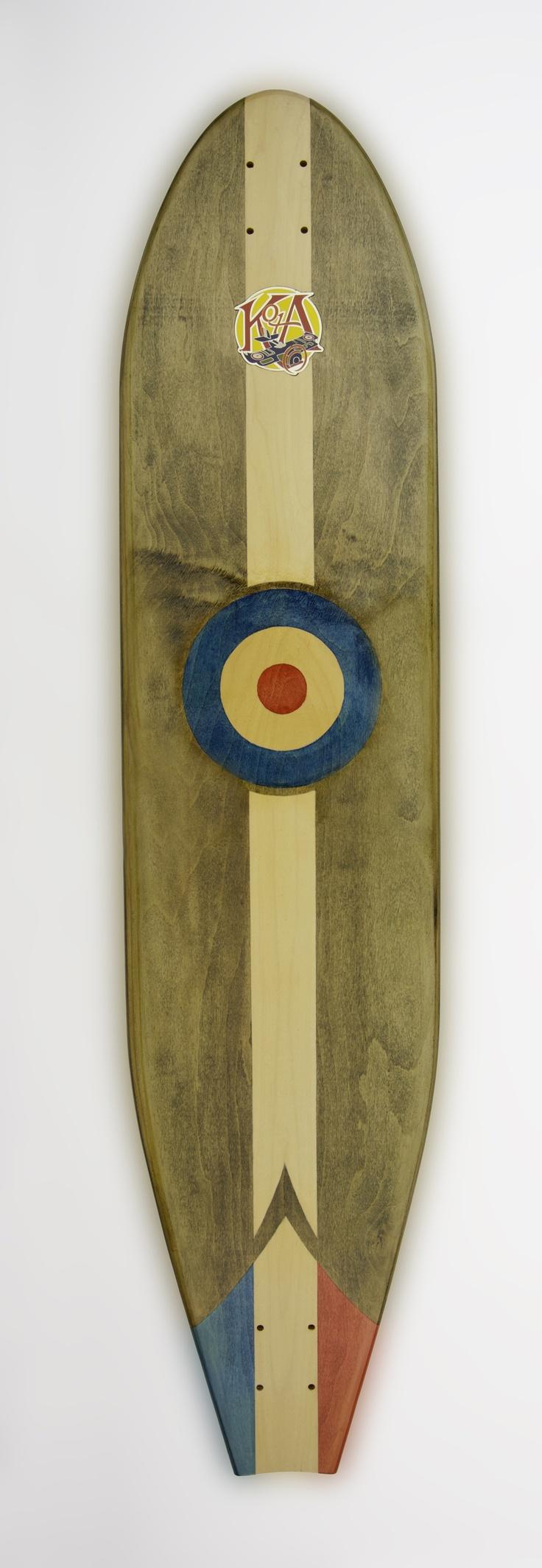 KOTA Longboards Handley Page Type O RAF design.  MSRP $290 complete / $200 deck.