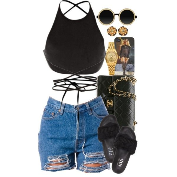 Untitled #1528 by power-beauty on Polyvore featuring Calvin Klein Collection, Chanel, Rolex and Moscot
