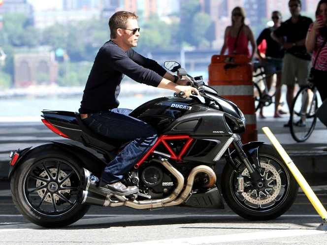 This Is Actor Chris Pine And The Stunning Ducati Diavel A