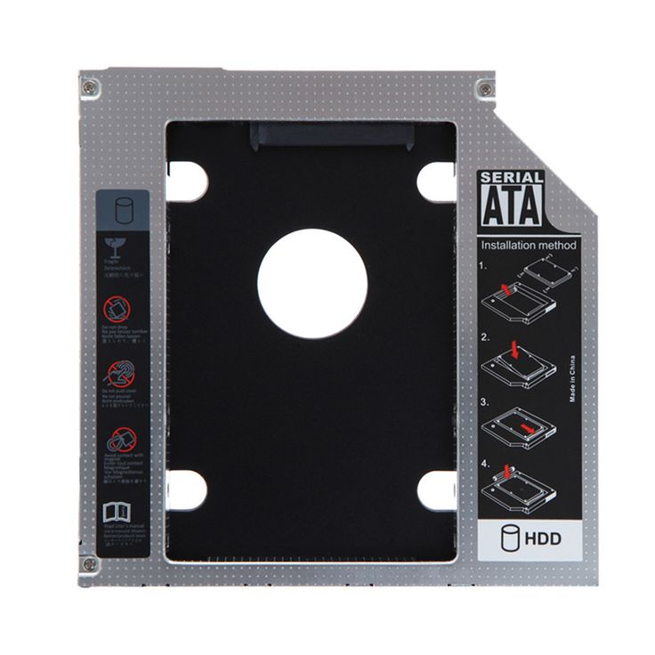 Hot selling magnesium alloy 2nd 9.5mm SATA HDD SSD Hard Drive Caddy Bay for Mac Book pro Notebook hard disk drive bay