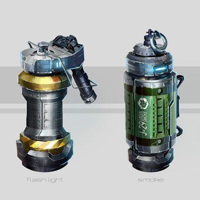 Grenades concept, Juan Novelletto on ArtStation at https://www.artstation.com/artwork/grenades-concept