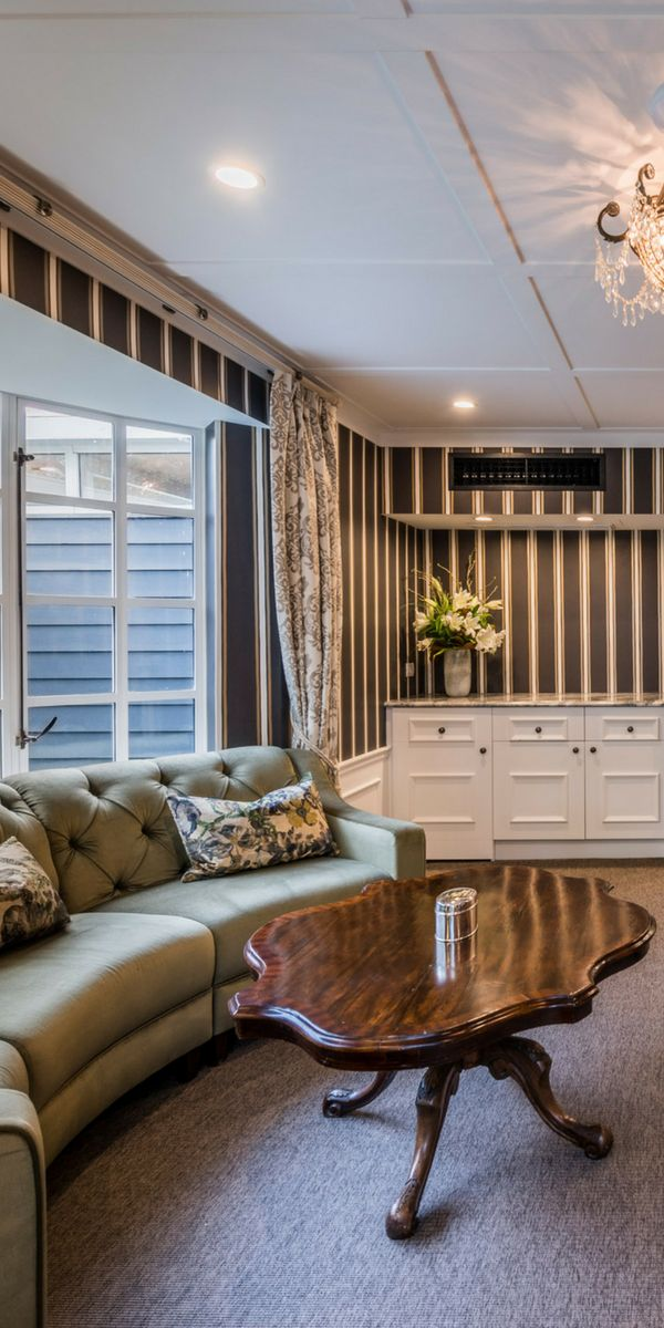 Private lounge in The Residence, The George, Christchurch NZ