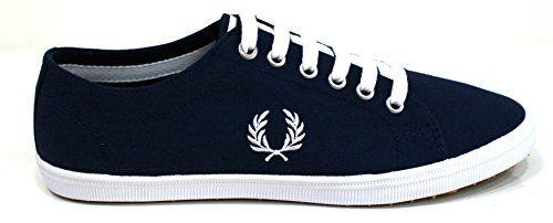 Fred Perry Kingston Twill Carbon blue B6259U266, Herren Sneaker - http://on-line-kaufen.de/fred-perry/fred-perry-kingston-twill-carbon-blue-b6259u266