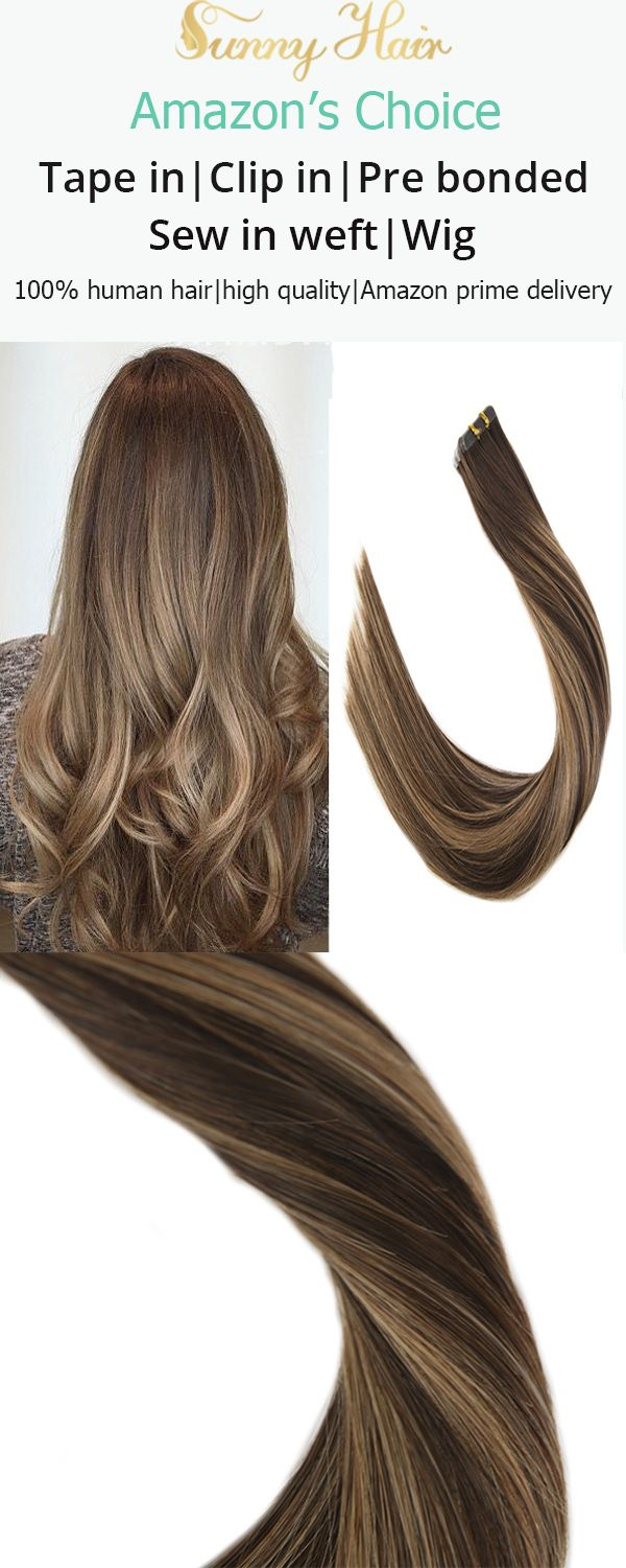 Vesunny Tape In Hair Extensions Human Hair Color 4 Chocolate