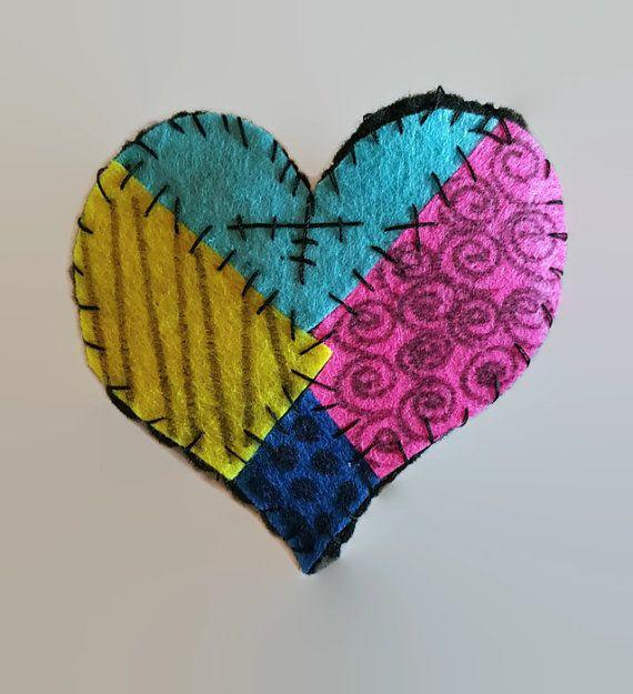 Felt Sally Doll Heart Hair Clip  Nightmare by ZomBeasBoutique