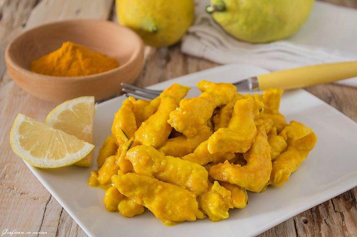 Straccetti+di+pollo+curcuma+e+limone+cremosi