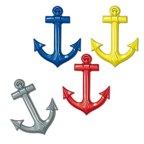 Assorted Plastic Ships Anchors for Navy or Pirates.