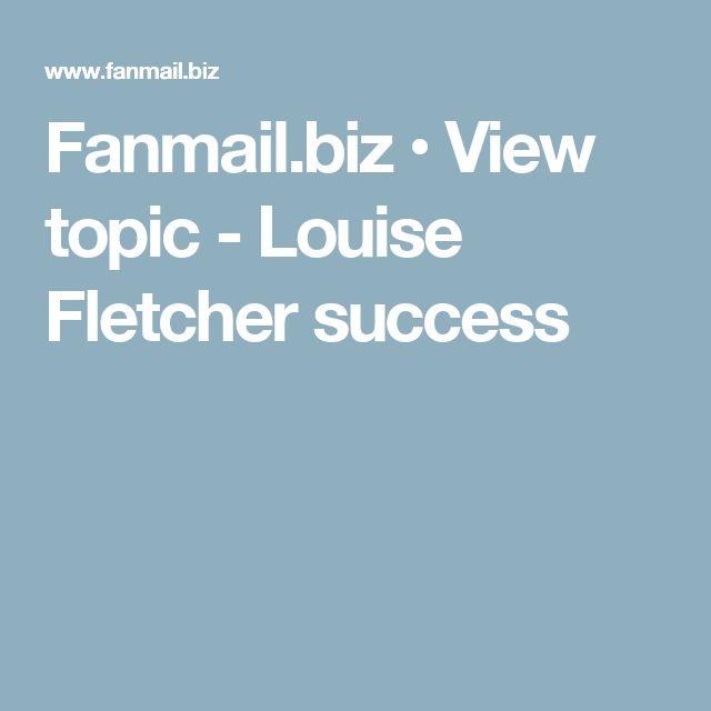 Fanmail.biz • View topic - Louise Fletcher success