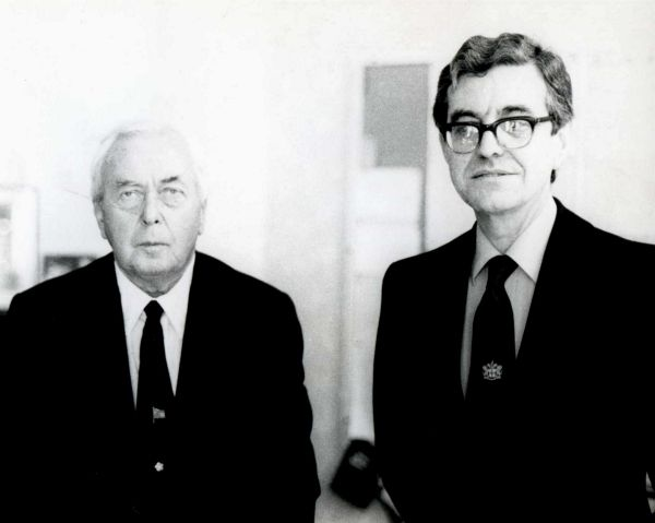 Brian Gostick inspirational history teacher with Harold Wilson P.M.