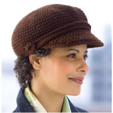 Visor grátis Cap Crochet Pattern - Free Patterns - livros e padrões